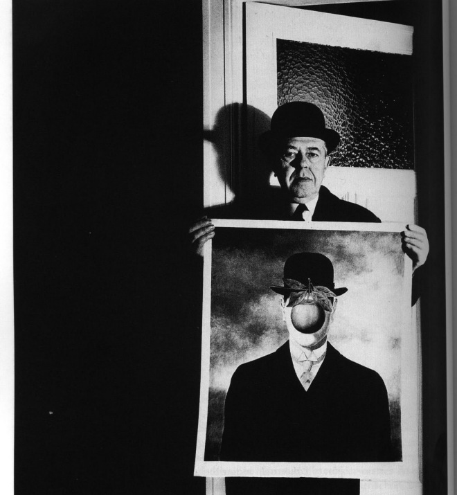 Bill Brandt - Rene Magritte with His Picture The Great War, 1966